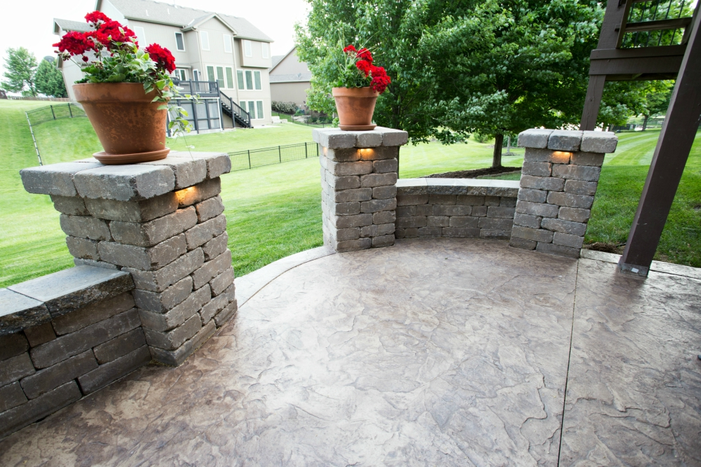 Stamped Concrete Fireplaces : Outdoor fireplaces hinkle hardscapes kansas city mo
