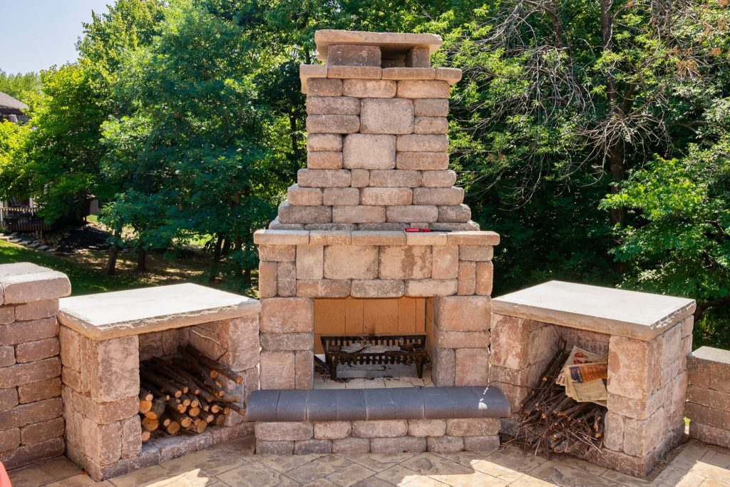 kansas city outdoor fireplace