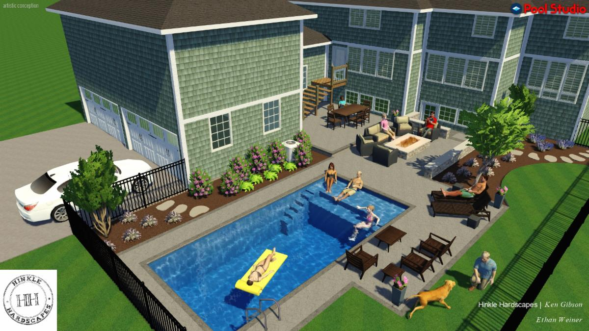 3d modeling dream backyard