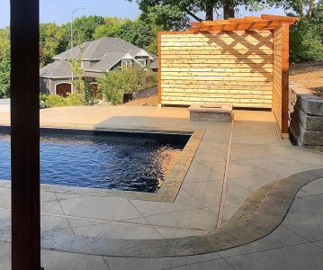 A Closer Look at a Pool Project in Riverside, Missouri