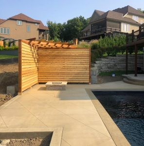 walled pergola installation kansas city