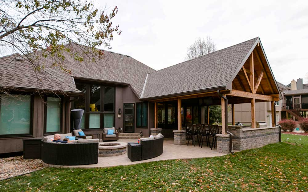 Covered patio structures Kansas