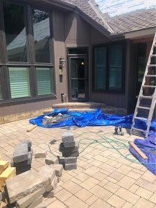 stone flooring spans patio outdoor living space
